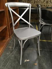 Sale 8782 - Lot 1379 - Set of Four Metal X Back Dining Chairs