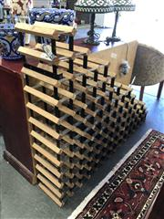 Sale 8801 - Lot 1563 - Tiered Timber Wine Rack