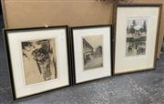 Sale 9077 - Lot 2067 - Early etchings by Douglas Pratt and Gayfield Shaw of Kings School Parramatta, together with an handcoloured engraving of Pleasure G...