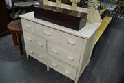 Sale 8093 - Lot 1434 - White Painted Chest of 7 Drawers