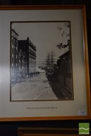 Sale 8518 - Lot 2047 - Artist Unknown - Phillip St. Looking Toward Circular Quay Sydney, 1885 40 x 30cm