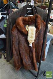 Sale 8530 - Lot 2120 - Jag Leather Coat, Fur Coat & Collar