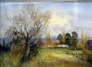 Sale 8563T - Lot 2026 - Molly Flaxman - Autumn, Berry, watercolour and gouache, 36.5 x 50cm, signed lower right