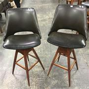 Sale 8643 - Lot 1001 - Pair of Wallace Furniture Barstools