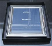 Sale 8709 - Lot 1075 - A Whitehill sterling silver photo frame as new in box,  approx 8 x 10 inches