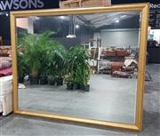 Sale 8971 - Lot 1005A - A Large Gilt Framed Bevelled Edge Mirror with rope twist frame and beading (220 x 180cm)
