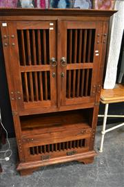 Sale 8066 - Lot 1018 - Raised Timber Entertainment Cabinet