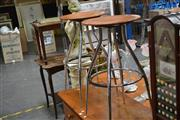 Sale 8165 - Lot 1099 - Pair of Modern Bar Stools
