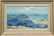 Sale 8282A - Lot 28 - Allan Hansen (1911 - 2000) - Blue Mountains Study 19 x 34cm