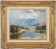 Sale 8434 - Lot 563 - Rubery Bennett (1893 - 1987) - Valley After Rain 24 x 29cm