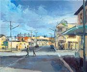 Sale 8495 - Lot 2010 - Dusan Milobabic - The Corner Shop 30 x 25 cm