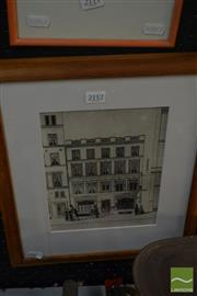 Sale 8537 - Lot 2112 - Photograph c1930s of a Victorian Drawing London Street Scene. 38 x 31cm (frame size)