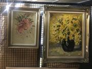 Sale 8751 - Lot 2062 - Pair of Original Floral Still Life Paintings