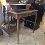 Sale 8795K - Lot 3 - A fine ladies desk with leather insert with metal finishes.