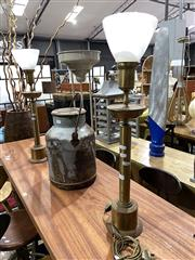 Sale 8901F - Lot 1014 - Pair of Brass Buffet Lamps