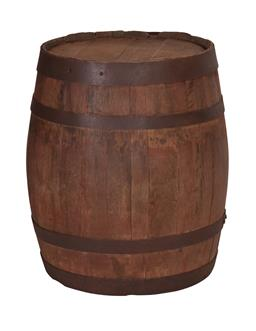 Sale 9140F - Lot 230 - A reclaimed timber wine barrel in a antique, weathered look. Dimensions: W46 x D46 x H63 cm