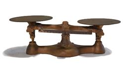 Sale 9166 - Lot 1048 - Brass bench top scales by Detecto Scales