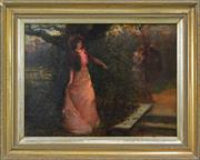 Sale 8203A - Lot 97 - Alex Rosell (1859 - 1922) - Lady in Garden, 1904 44 x 60cm
