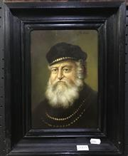 Sale 8563T - Lot 2005 - Jozef (Joshua) Kivits - Renaissance Scholar, oil on timber panel, 25 x 17cm, signed upper right