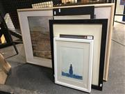Sale 8730 - Lot 2043 - Quantity of (7) Assorted Decorative Prints, Original Etchings and Paintings (framed/various sizes)