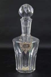 Sale 8827 - Lot 43 - Baccarat Crystal Cut Decanter with a Hallmarked Spirit Label