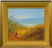 Sale 8960J - Lot 73 - David Boyd - Playing by the Beach oil on board
