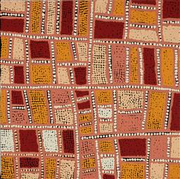 Sale 9141A - Lot 5045 - CAROL NAMPIJINPA LARRY Karnta Jukurrpa acrylic on canvas 46 x 46 cm (stretched and ready to hang) certificate of authenticity