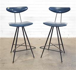 Sale 9171 - Lot 1022 - Pair of Meadmore barstool (h:94 x w:40 x d:34cm)