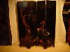 Sale 7523 - Lot 1907 - A CHINESE FOUR PANEL CARVED BLACK LACQUER SCREEN