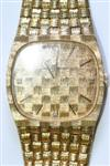 Sale 7659 - Lot 90 - A GENTS 14CT GOLD GIRARD PERREGAUX WRIST WATCH;