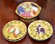 Sale 7997 - Lot 64 - FRENCH SARREGUEMINES MAJOLICA 7 PIECE SERVICE