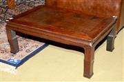 Sale 8015A - Lot 6 - A low lying timber Oriental opium table