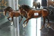 Sale 8014 - Lot 12 - Beswick Pair of Horse Figures (Restored)