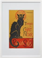 Sale 8257A - Lot 104 - Théophile Steinlen (1859 - 1923) After. - Tournée du Chat Noir, c.1896 71 x 51cm (109 x 88cm)