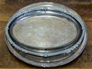 Sale 8310A - Lot 75 - A collection of trays, oval and circular ep trays. largest diam 41cm