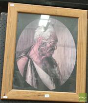 Sale 8468 - Lot 2016 - Framed Gottfried Lindauer Portrait of Maori Chief