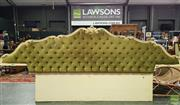 Sale 8566 - Lot 1187 - Button Back Upholstered Bed Head