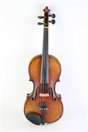 Sale 8835 - Lot 252 - Cased Violin With Bow