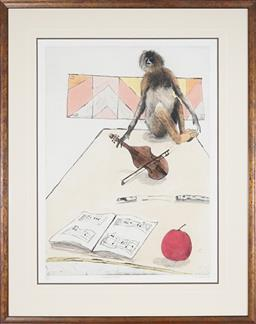 Sale 9091 - Lot 2030 - Graeme Townsend (1954 - ) Strudel Maus, 1979 colour etching, ed. IX/XXV, frame: 98 x 78cm, signed and dated -
