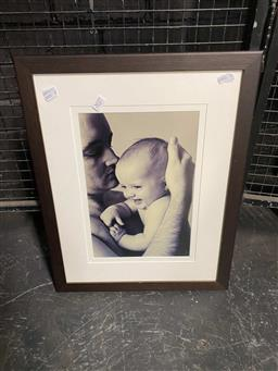Sale 9159 - Lot 2037 - Father & Child Framed Photograph
