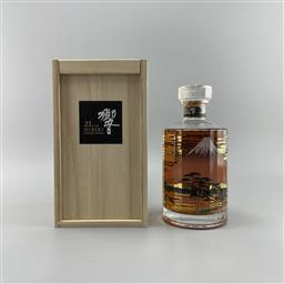 Sale 9182W - Lot 803 - Hibiki 'Mount Fuji' 21YO Blended Japanese Whisky - limited edition of only 2000 bottles, 43% ABV, 700ml bottle in timber box with bo.