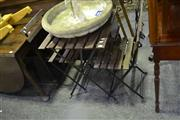 Sale 8039 - Lot 1045 - Folding Three Piece Outdoor Setting Inc Table and Two Chairs