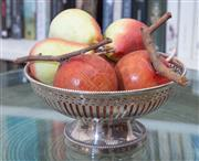 Sale 8800 - Lot 79 - A silver Whitehill galleried fruit bowl, D 20 x H 10cm