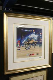 Sale 8332A - Lot 72 - Charles Billich (1934 - ) - Rugby World Cup, 2003 54 x 54cm