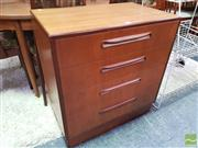 Sale 8451 - Lot 1066 - G-Plan teak chest of 4 drawers