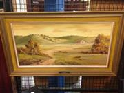 Sale 8645 - Lot 2074 - Olga Irwin - Autumn in the Country Canberra oil on canvas on board, 43 x 74cm, signed lower right