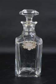 Sale 8827 - Lot 21 - Baccarat Crystal Cut Decanter with a Hallmarked Spirit Label