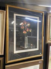 Sale 9028 - Lot 2020 - Pamela Griffith, Christmas Bells colour etching and aquatint, ED. 18/40, frame:  93 x 76 cm, signed lower right