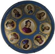 Sale 8057 - Lot 15 - Continental Porcelain Pictorial Circular Tray