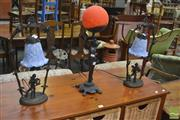 Sale 8257 - Lot 1077 - Three Table Lamps